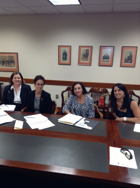 President of the Cawood Inns of Court, Patty Stephenson, Joan Bellistri, Chris Paulsen, Lisa Sarro